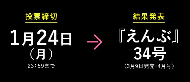 えんぶチャート2019締切&発表